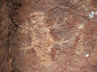 Arqueologia Americana: Arte Rupestre - desenhos rupestres feitos há milhares de anos, em Taboco, distrito de região de Corguinho, região centro-norte de Mato Grosso do Sul