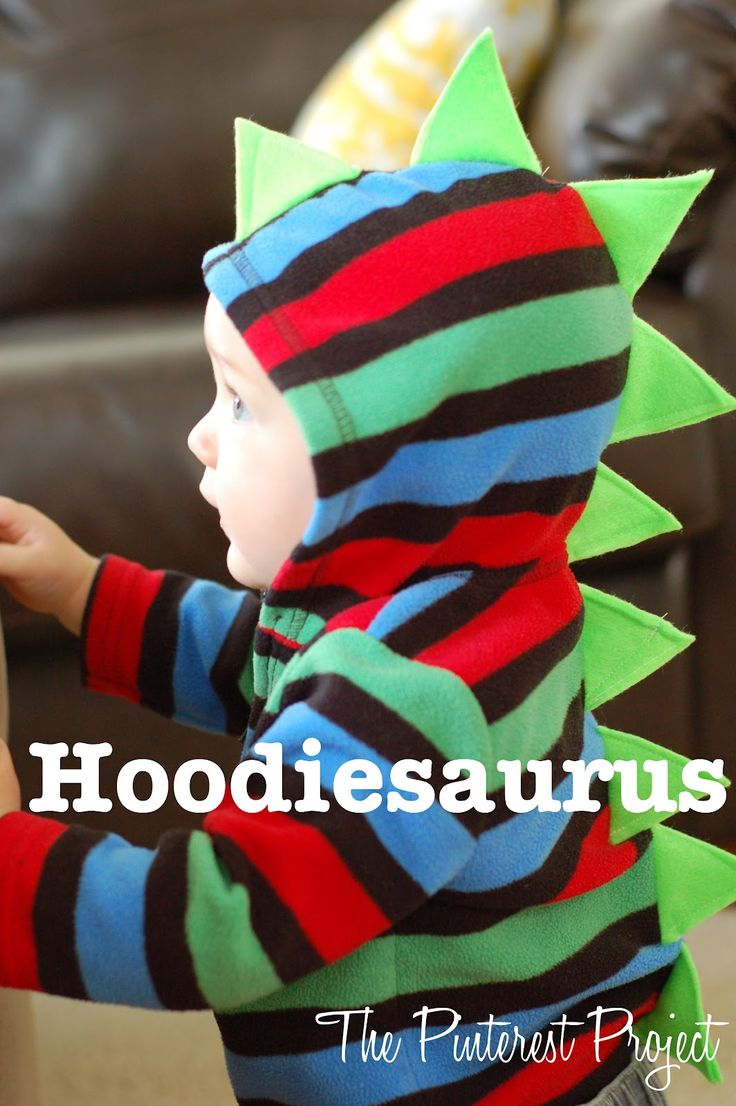 Hoodiesaurus...........    Supplies needed:  - Hoodie  - Felt or other stiff material  - Matching thread, straight pins, pencil or chalk for marking