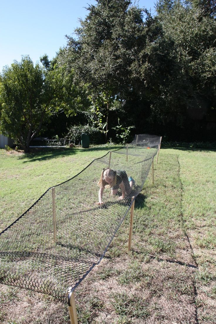 Obstacle course: cargo net crawl   Adult party games ...