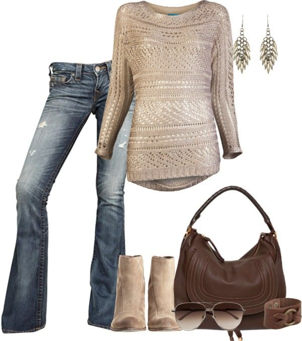 cute for fall..: Shoes, Sweaters, Fall Style, Casual Fall, Fall Time, Jeans, Fall Looks, Fall Outfits, Boots