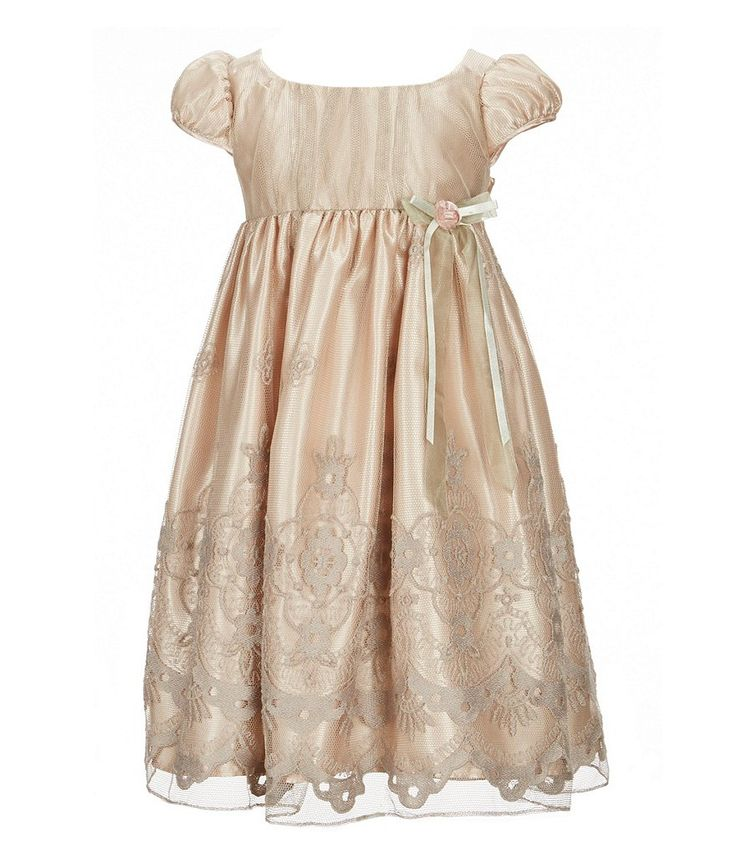 Bonnie Jean Little Girls 2T-6X Embroidered Cap-Sleeve Dress