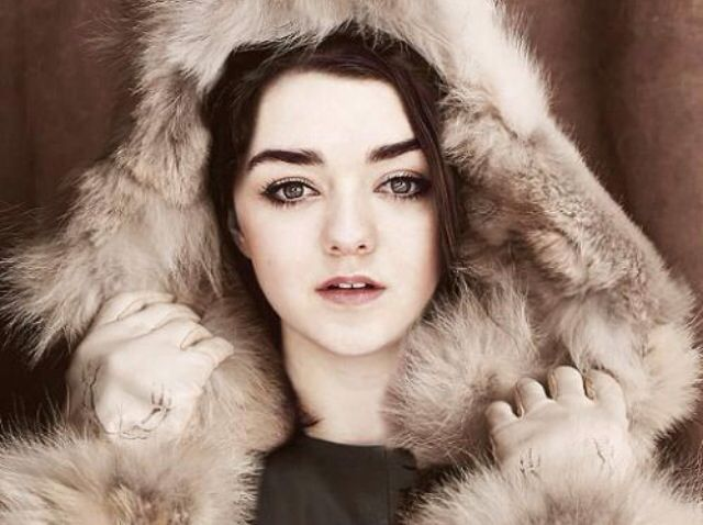 The stunning Maisie Williams aka Arya Stark