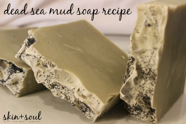 Rejuvenate and remineralize your skin with this cold process dead sea mud soap recipe.