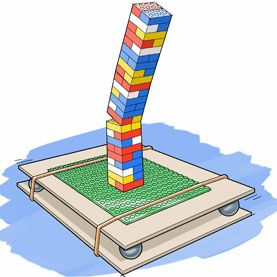 Build an earthquake proof LEGO building