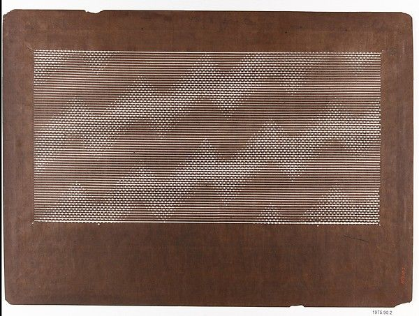 Japanese stencil made from paper and silk. Date: late 19th–early 20th century Part of The Met Museums vast collection.