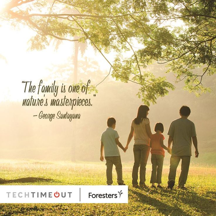 """""""The family is one of nature's masterpieces."""" - George Santayana  #family #techtimeout https://www.sverve.com/s/N2tDDz9Es"""