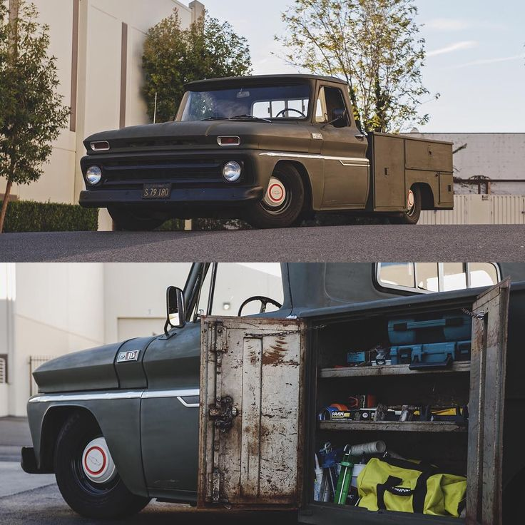 """1965 rockin' a utility bed // shot by @crosshair_nightmare  ⚡️ Follow @Porterbuilt """