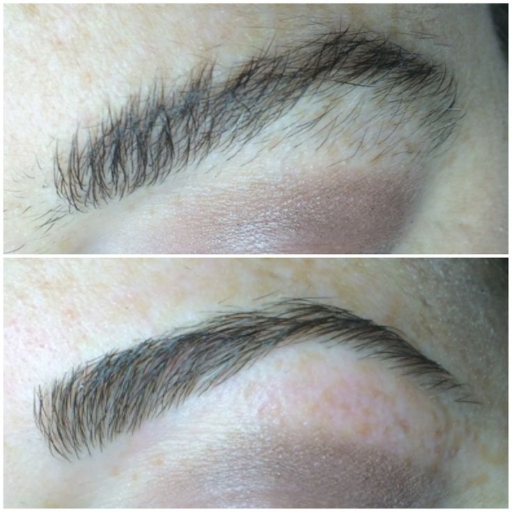 Before and after eyebrow wax by Erica Soto at Salon INXS,best hair salon in Winter Springs Florida, #besthairsalon, #eyebrows,  saloninxs.net