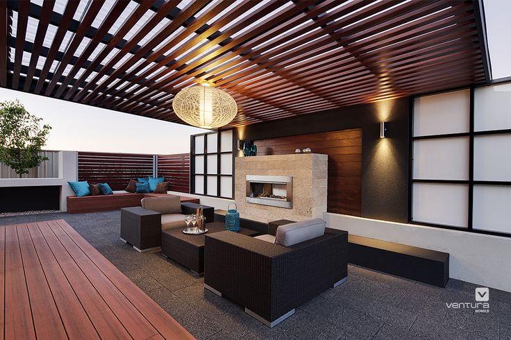 Alfresco patio backyard design. The Monticello display home by #VenturaHomes
