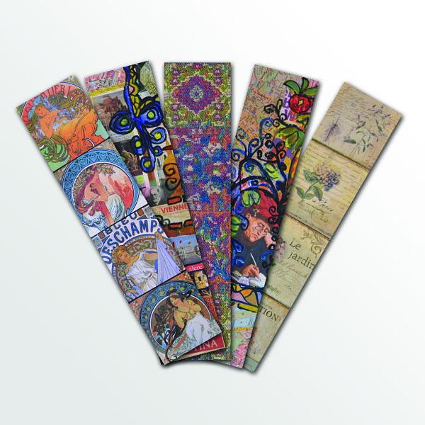 Marcapáginas diseñados con objetos y decoraciones de Lapsus, por Nicolás Montanares M. Mil veces gracias !