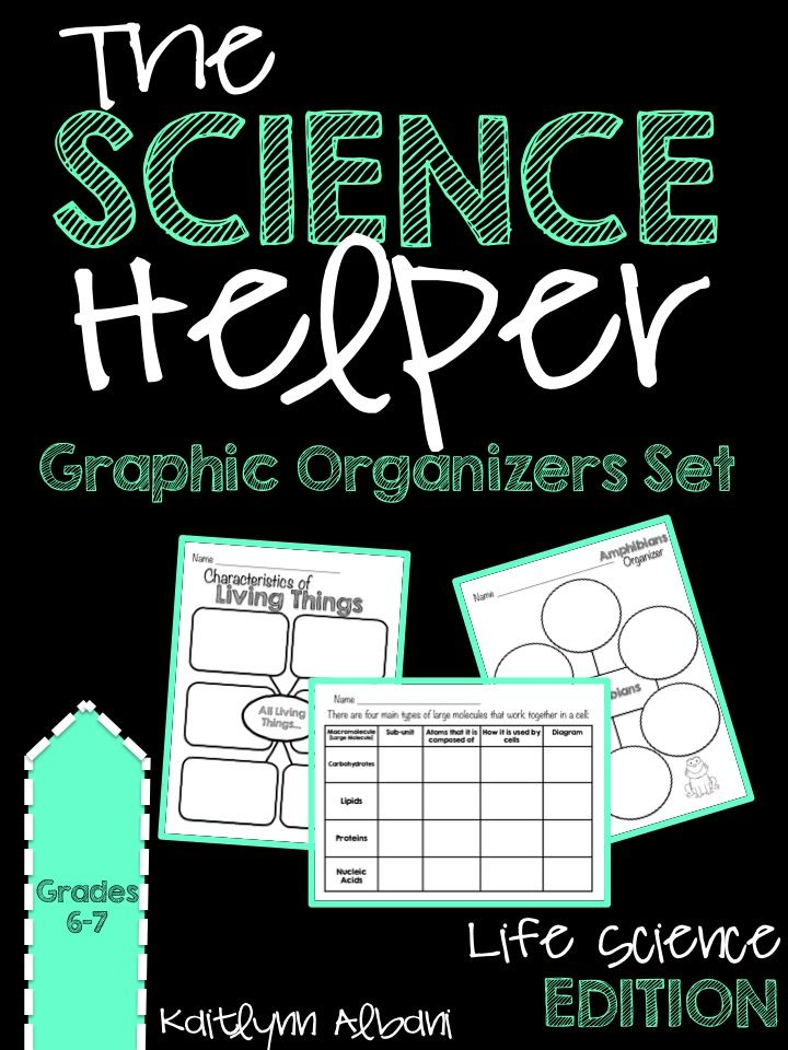 The Science Helper: Life Science Edition Various Graphic Organizers for middle school science 7th grade
