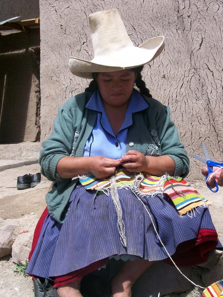 Amelia. Weaver. Cajamarca, Peru.