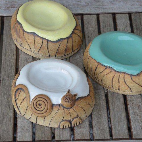 Kitty bowls!  Mýdlenka micinka a rozlité mlíčko :-) / Zboží prodejce keramikas | Fler.cz