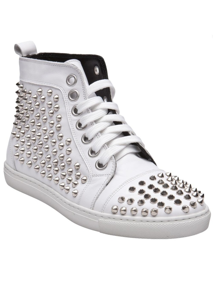 Hi Top Spike Sneakers by Rodney P  Hunt