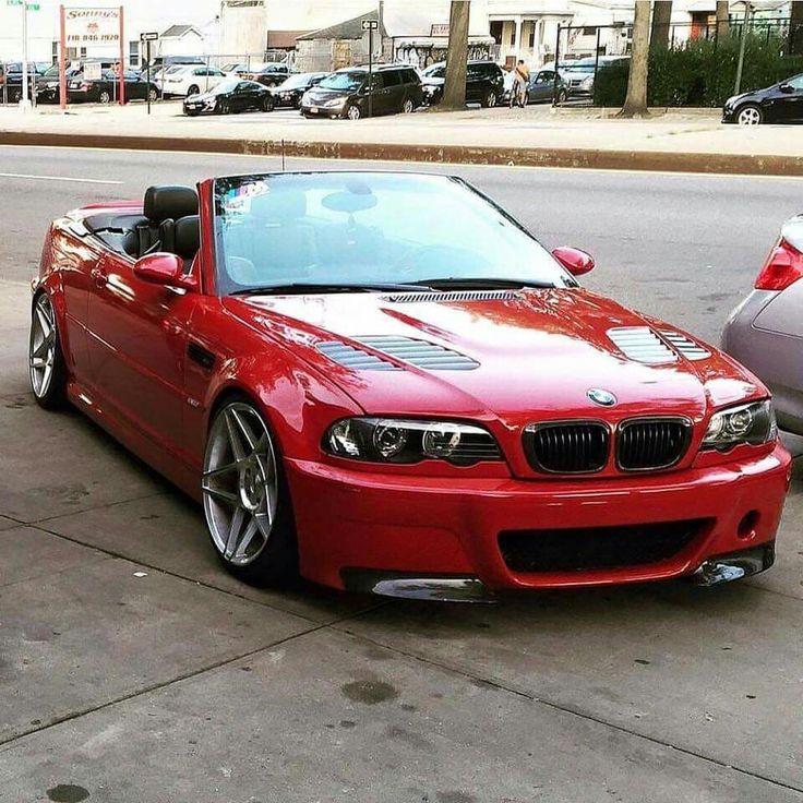 BMW E46 M3 cabrio red