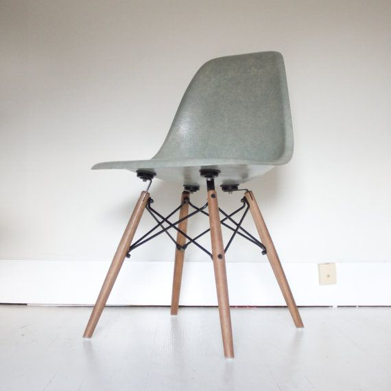 RESERVE LISTING  Please do not purchase  Eames for Herman Miller Sea Foam  Green Fiberglass DSW Side Shell on Walnut Dowel Base108 best eames images on Pinterest   Eames chairs  Chairs and  . Eames Dsw Chair Green. Home Design Ideas