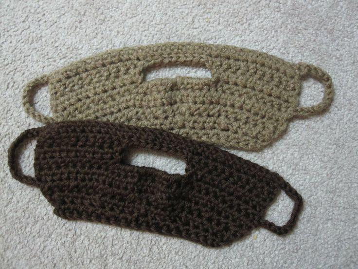 A Chick w/ Sticks: Crochet Beard Pattern. It hooks on your ears so you can wear it with any hat!