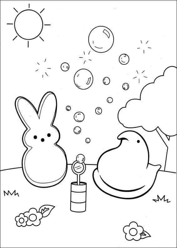 Free Peeps Coloring Pages Printable In 2020 Bunny Coloring Pages Printable Easter Activities Easter Coloring Pages