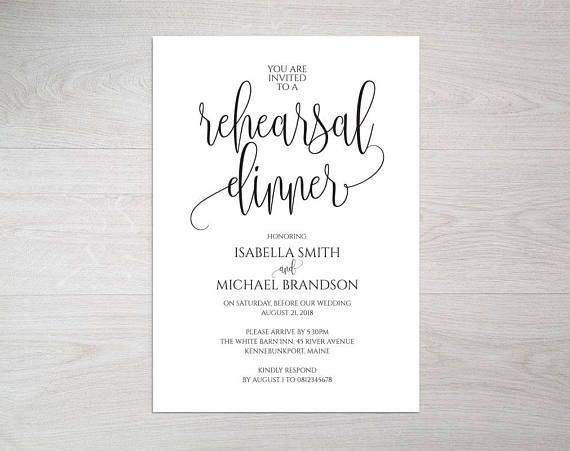 The 25+ best Rehearsal dinner invitation wording ideas on - ms word invitation templates