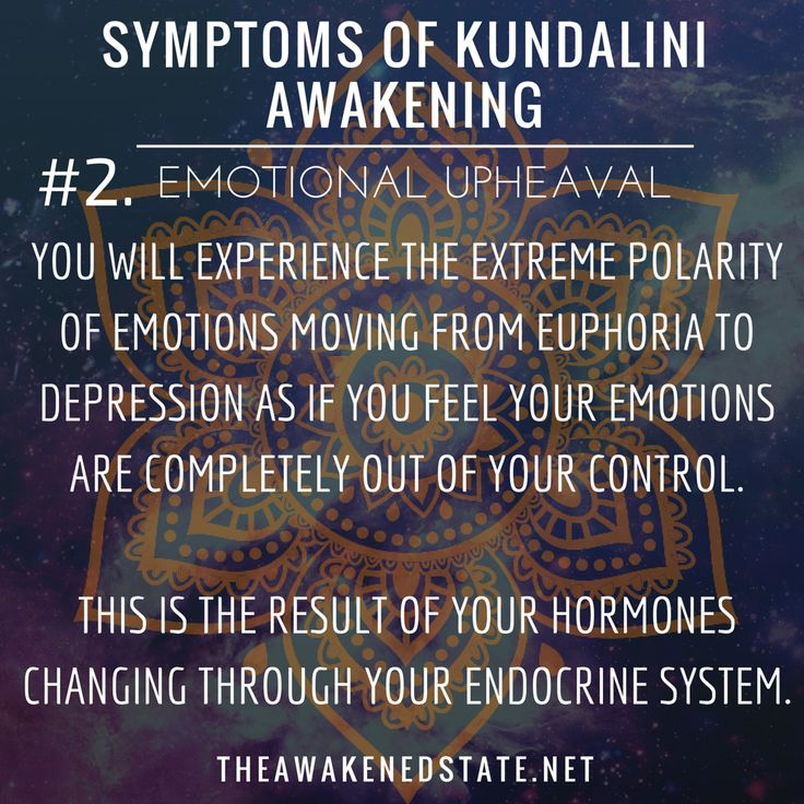 """Symptoms of Kundalini Awakening#2. Emotional UpheavalWe like to call it, """"The Bipolar Roller coaster of your Emotions"""". This is where you will experience the extreme polarity of Emotions moving from euphoria to depression as if you feel your emotions are completely out of your control. This is the result of your hormones changing through your endocrine system. One minute you will feel on top of the world and the next you will encounter deep waves of emotion that will lead to tears.This is…"""
