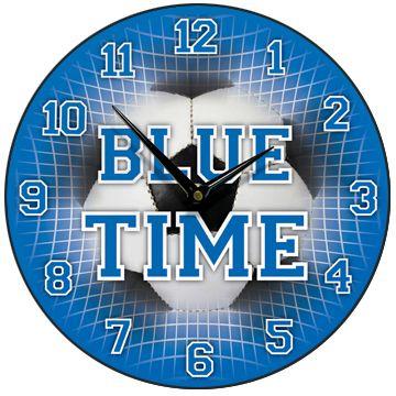 Blue Time Football Wall Clock