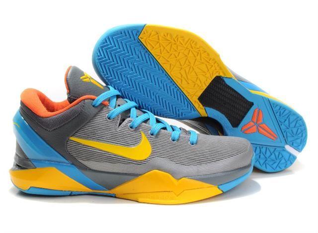 https://www.kengriffeyshoes.com/nike-zoom-kobe-7-cool-grey-glass-blue-yellow-orange-p-995.html NIKE ZOOM KOBE 7 COOL GREY GLASS BLUE YELLOW ORANGE Only $80.96 , Free Shipping!