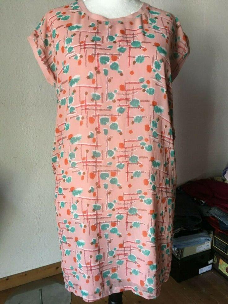60er kleid retro twiggy kleid lachs gruen 42 44 clothes fashion