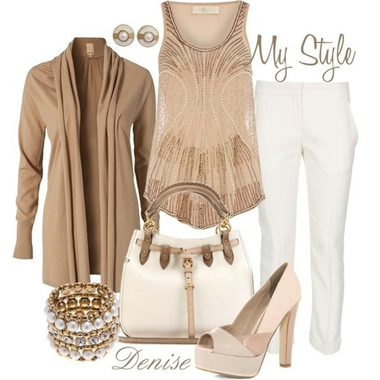: Style Outfit, Casual Outfit, Fashion Clothing, Fashion Pass, Color Combos, Beads Vest, Date Outfit, Nudes Beads, Style Fashion