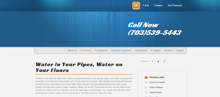 Leaking Water Pipe Repairs by Virginia's Best Plumbers http://www.frugalrooter.com/plumber-virginia-dc-maryland/residential/plumbing-leaks-located-repaired
