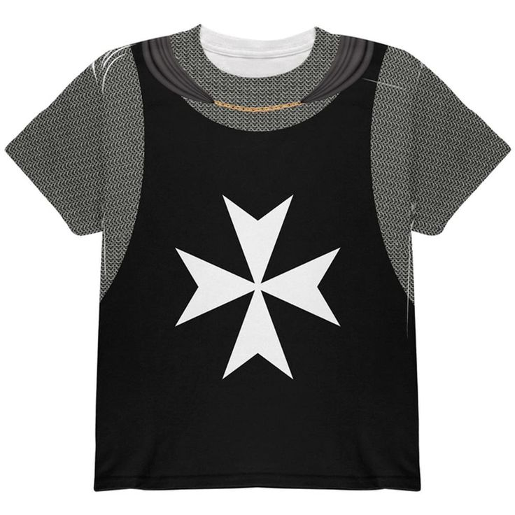 Halloween Knights Hospitaller Armor Costume All Over Youth T Shirt