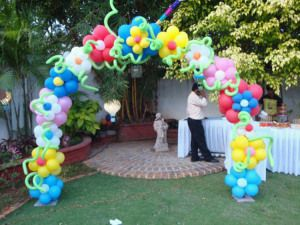 Naming ceremony birthday party decorations and hyderabad for Balloon decoration for naming ceremony