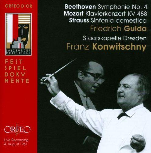 Beethoven: Symphonie No. 4; Mozart: Klavierkonzert KV 488; Strauss: Sinfonia domestica [CD]