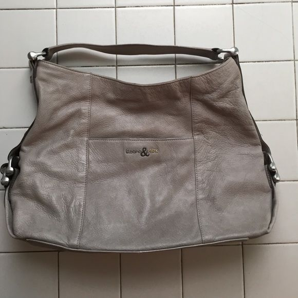 Sloan & Alex Leather Slouch Bag Genuine Leather taupe colored bag with lots of life left. Sloane & Alex Bags Shoulder Bags
