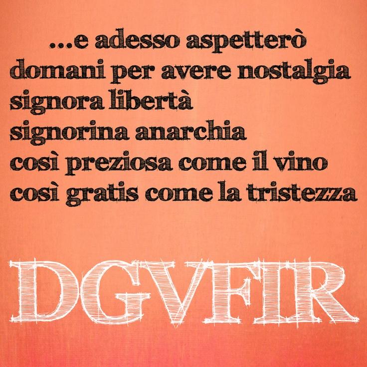 "#DGVFIR #Faber Fabrizio de André - Follow ""Da Grande Voglio Fare Il Re"" RadioShow - www.radiovostok.com - Facebook www.facebook.com/DGVFIR - Twitter www.twitter.com/DGVFIR - YouTube www.youtube.com/DGVFIR - Instagram DGVFIR or #DGVFIR - Google+ https://pl"