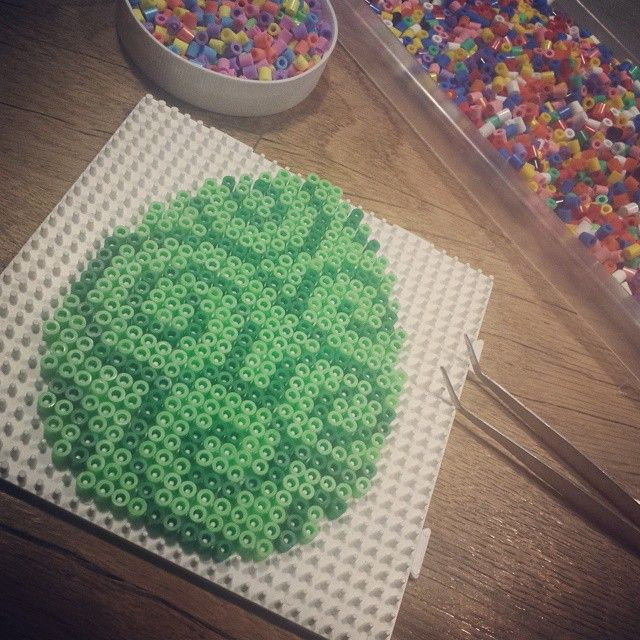 Easter egg hama beads by beautypolish