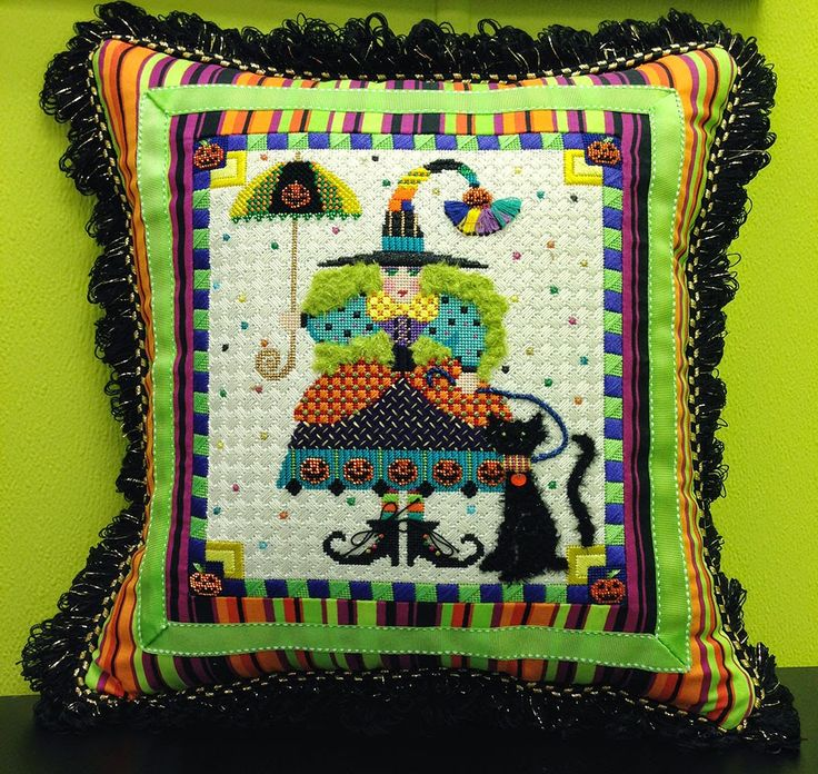 It's not your Grandmother's Needlepoint: Happy Hallloween