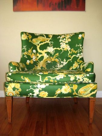 Los Angeles: Vintage Mid Century 1960's Low Green Upholstered Lounge / Club Chair $300 - http://furnishlyst.com/listings/443673: The Angel