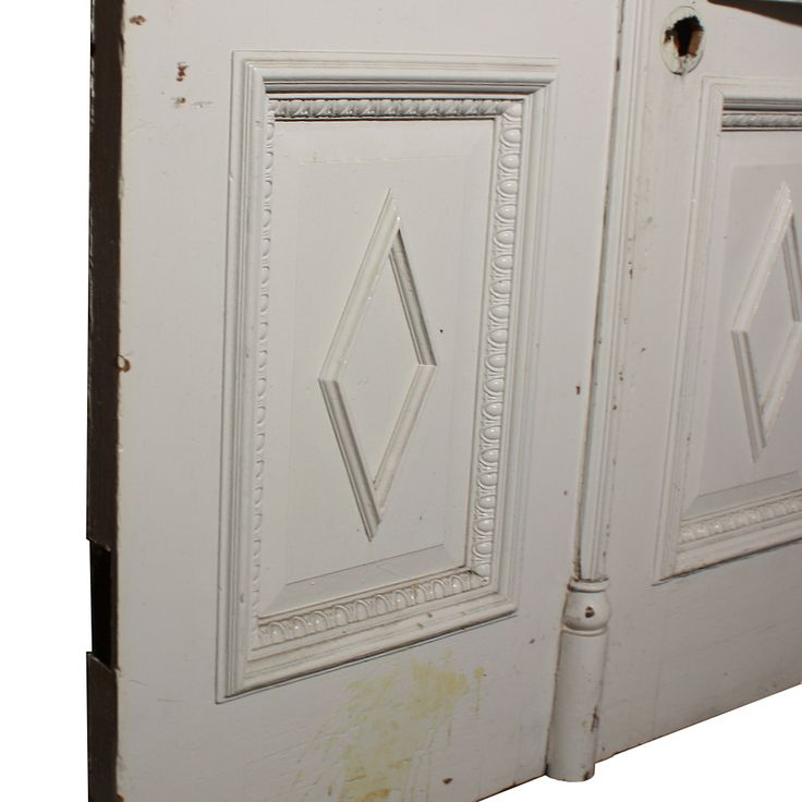 Marvelous Antique Salvaged Door Pair With Egg And Dart Detailing NED208 RW  For Sale |