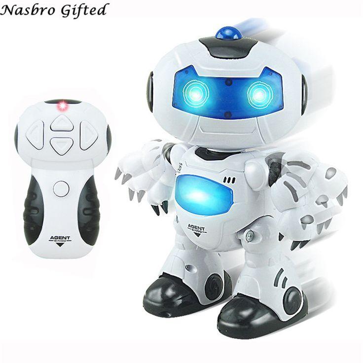 RC Musik & Licht Fernbedienung Roboter Spielzeug Intelligent Walking Space Robot … – Action & Toy Figures