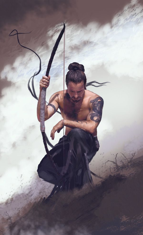 Zen archer by Dave Seguin, who is a freelance concept artist, illustrator and graphic designer based in Canada.