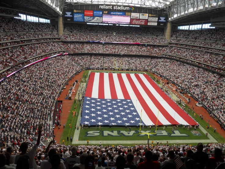 Come on down to Reliant Stadium and see a Houston Texans game in air conditioned comfort.  In addition to regular stadium food, you can have a steak, cheesesteak sandwiches, Tex-Mex, sushi or a salad.  Yum.