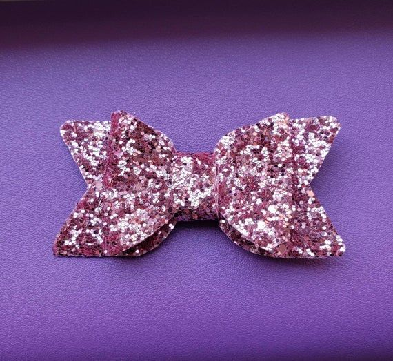 sailor hair bow girls hair accessories glitter hair bow Pink Glitter hair bow toddler hair bows bows for babies gifts for girls