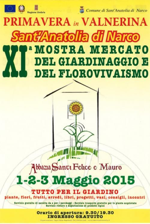 Primavera in Valnerina con la Mostra-Mercato del giardinaggio e del florovivaismo a Sant'Anatolia di Narco