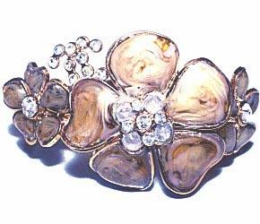 Chanel Delicate Lavender Gripoix Flower Swarofski Crystal Bracelet