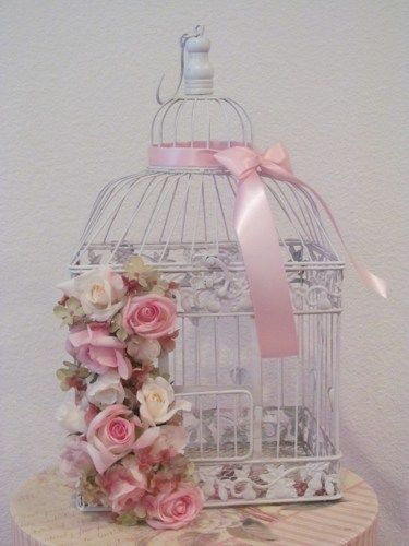 #ShabbyChic #Decorative Birdcage / Shabby Chic #HomeDecor http://www.artfire.com/ext/shop/product_view/TheWeddingDecorPlace/9930663/shabby_chic_decorative_birdcage__shabby_chic_home_decor/handmade/housewares/home_decor/other