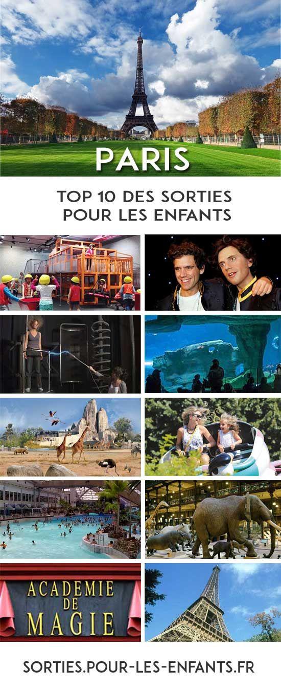 Le Top 10  des Idées de Sorties pour les enfants à PARIS - GRATUIT !  #sorties #Paris #idées #enfants #famille #activités