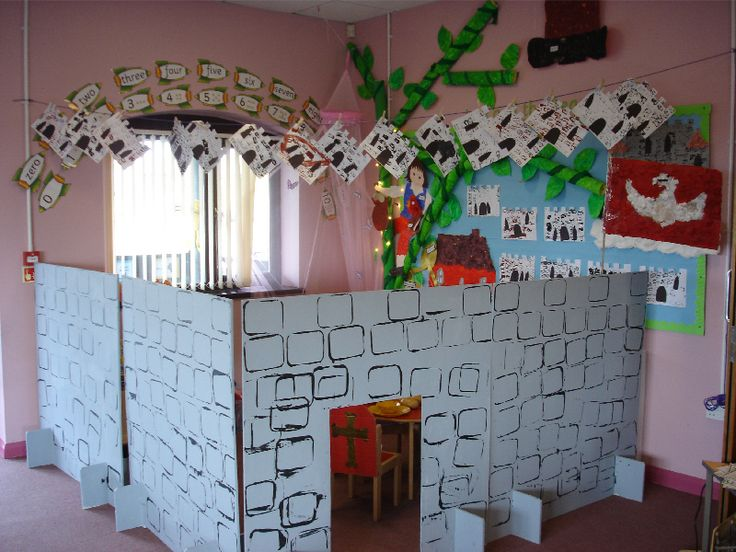Castle role-play area classroom display photo -