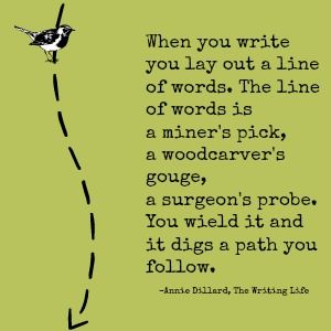 Quotes for Writers: Annie Dillard...LOVE THIS! Thank you @Joel Freixas Tooley