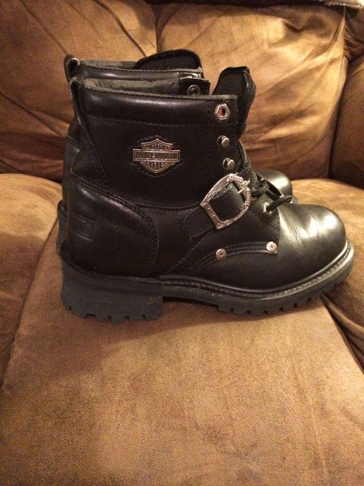 Women's Harley Davidson Boots 7.5 Black #HarleyDavidson #BikerBoots