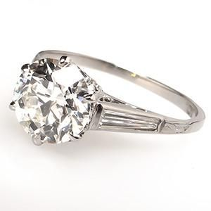 Antique 1.5 Ct Diamond Engagement Ring Platinum 1920's